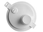 White pouring cap/spout for Woolwax® gallon cans